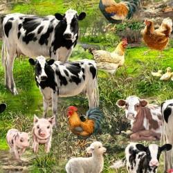 Allover Farm Animals - MULTI