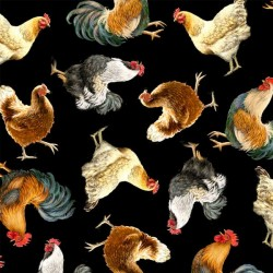 Tossed Chickens - BLACK