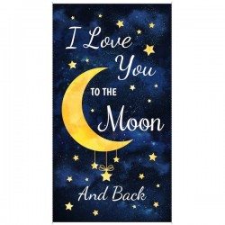 Panel - I Love you to the Moon and Back 60cm - NAVY