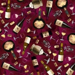 Tossed Wine Bottles - WINE