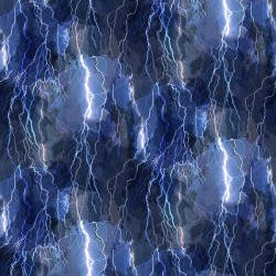 Crackling Lightening Bolts - BLUE