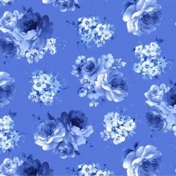 Medium Blue Flowers - BLUE