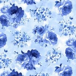 Medium Blue Flowers - SKY