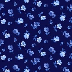 Tiny Blue Flowers - NAVY