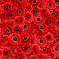 Packed Red Poppies - RED