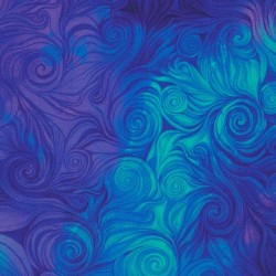 DIGITAL SWIRLS - BLUE