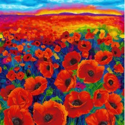 PAINTED POPPIES DIGITAL PANEL (90CM)