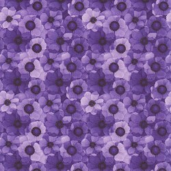 STYLISED HYDRANGEAS DIGITAL - PURPLE