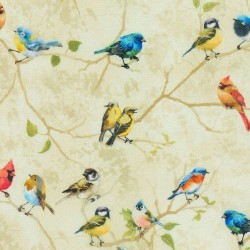 Birds on Branches digital - TAUPE