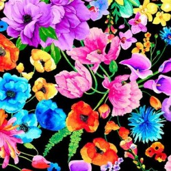 Rainbow Dream Florals - BLACK