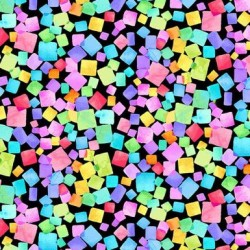 Rainbow Dream Cubes - BLACK
