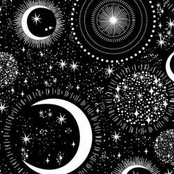 Moon & Stars Glow in Dark - BLACK