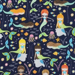 Swimming Glitter Mermaids - NAVY