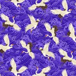 Cranes - BLUE/GOLD