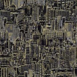 Urban Landscape Sketch Metallic - BLACK