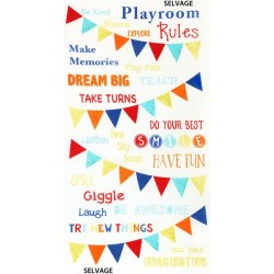 PLAYROOM RULES - Panel 60cm