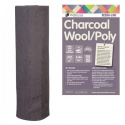 Matilda's Batting Charcoal- 60/40-W/Poly-2.4x30m Roll