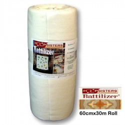 Hoop Sisters-BATTILIZER Cotton/Poly- 60cmx30m Roll
