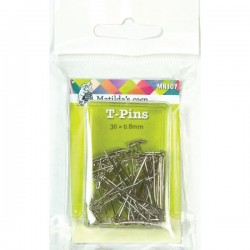 """T"" Pins - 30mmx .8mm (50)"