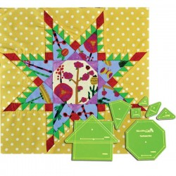 """Feathered Star Template- 15""""(8pc)"""