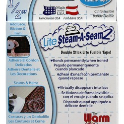 "LITE Steam-A-Seam2 Rolls  1/2""x 20yd"
