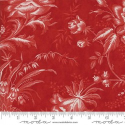 "108"" Floral Toile Backing - BERRY"